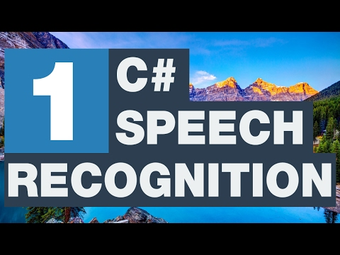 C# Speech Recognition - Sesi tanıma 1/3