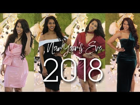 TRYING ON BOMB NYE DRESSES AND WHAT TO WEAR UNDER THEM! | ft. Fashion Nova