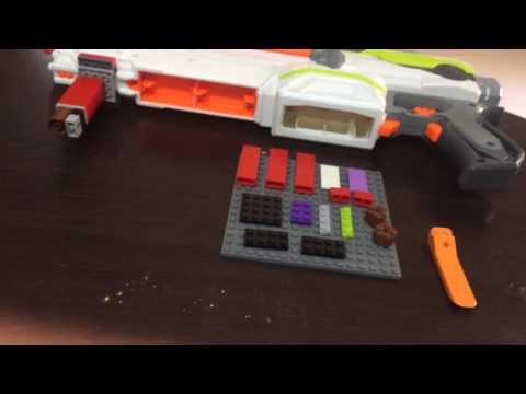 How to make a lego nerf handle attachment tutorial