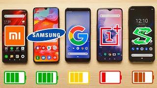 Xiaomi Mi 9T vs Galaxy A70 vs Pixel 3a XL vs OnePlus 7 vs BlackShark 2 | TEST BATERIA EXTREMO!!