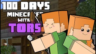 I Survived Minecraft For 100 Days with Tors And This Is What Happened