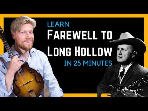 Bluegrass Mandolin Lesson - Farewell To Long Hollow by Bill Monroe