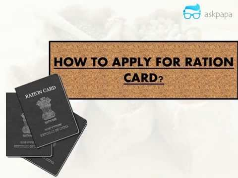 How to apply for New Ration Card?