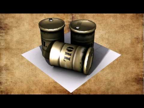 Oil barrel - Low poly - 3ds max