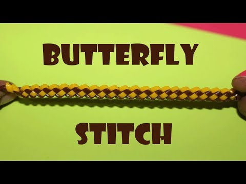 Butterfly stitch - Lanyard / scooby butterfly stitch - How to make butterfly stitch