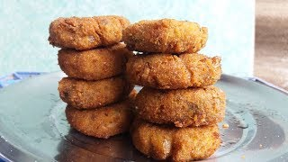 Cooking Fresh Yam Cutlet (Jimikand) in My Village - Tasty Cutlet Recipe