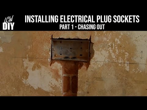 How to Install Plug Sockets - part 1 - Chasing Out - DIY Vlog #3