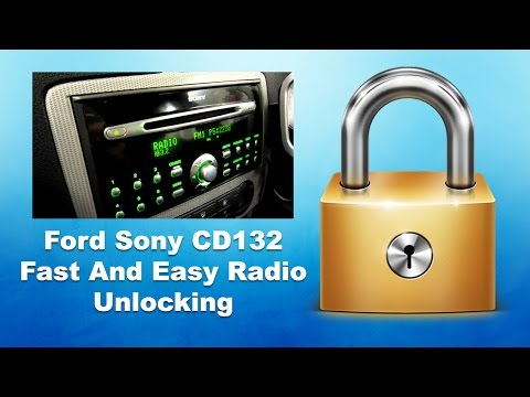 How To Unlock Sony CD132 Radio Serial/Code MP3 Ford Mondeo/Focus/Transit V Serial