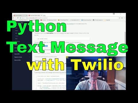 Twilio Tutorial: Send SMS Text Message - Python Texting API