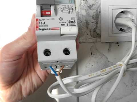 10 mA Residual Current Device (RCD) Test