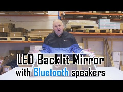 LED backlit bathroom mirror with Bluetooth speakers: Unboxing & overview