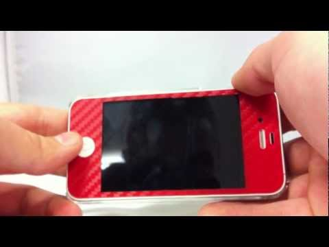 Red Carbon Fibre Wrap for iPhone 4S from JammyLizard
