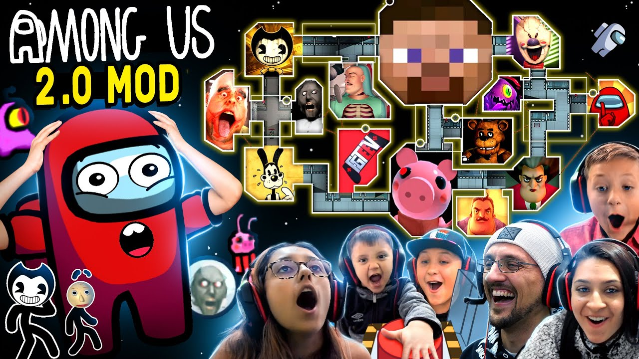 New AMONG US Map 2.0!  BEST MASHUP MOD EVER by FGTeeV + PETS ONLY & INVISIBLE HACK (All New Tasks!!)