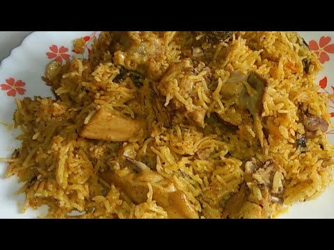 Quick &Easy Chicken Biryani in Kannada / How To Make Chicken Biryani Recipe In Pressure Cooker