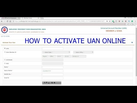 How to activate the UAN Online