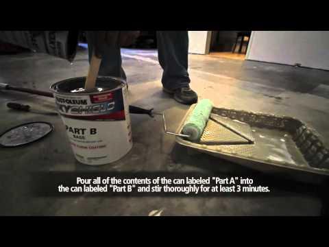 Garage Project - Rust-Oleum EPOXY SHIELD Garage Floor Coating