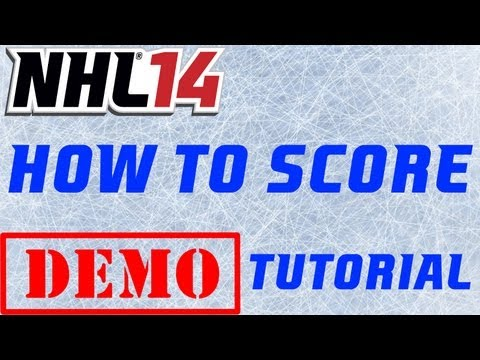 NHL 14: How to Score & Snipe Tutorial - Demo