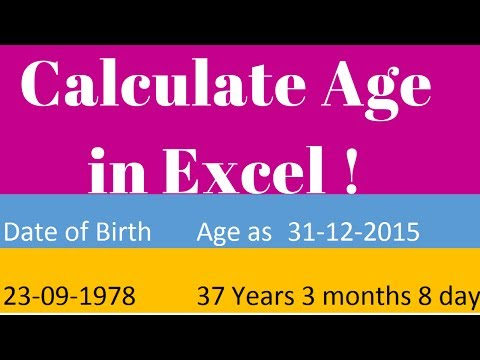 Calculate Age in Excel ☑️
