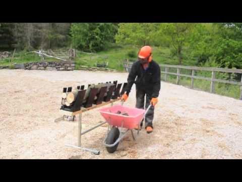 Truncator 6Pro making logs for firewood