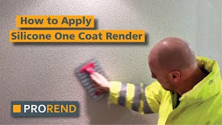 How To Apply Silicone One Coat Render