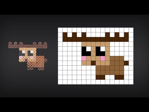 How To Make A Cute Perler Bead Moose Playithub Net