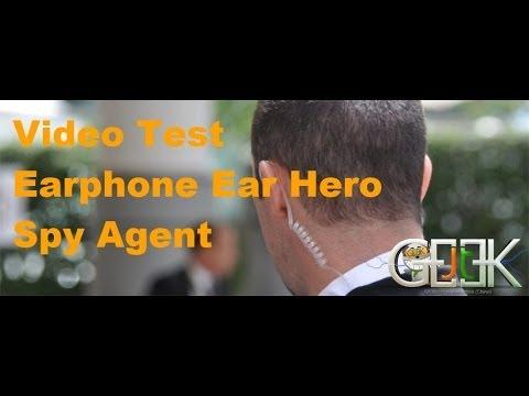 Earphone Spy agent Earhero English test by GLG