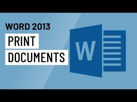 Word 2013: Printing Documents
