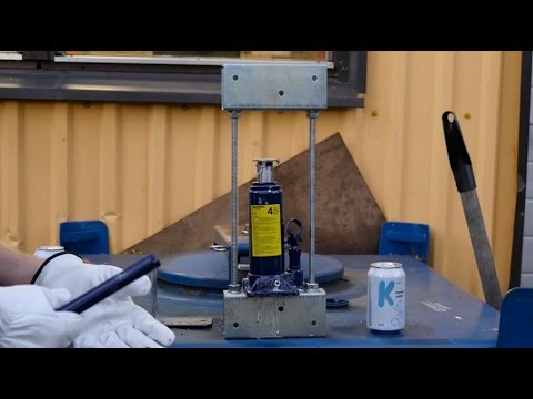 How to make small hydraulic press at home