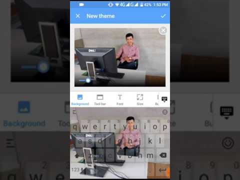 How to change keyboard theme to our photos on Android