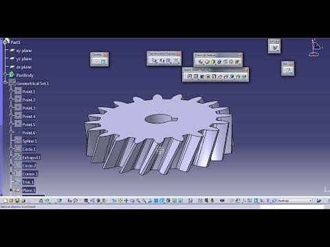 Design of a Helical Gear in CATIA V5