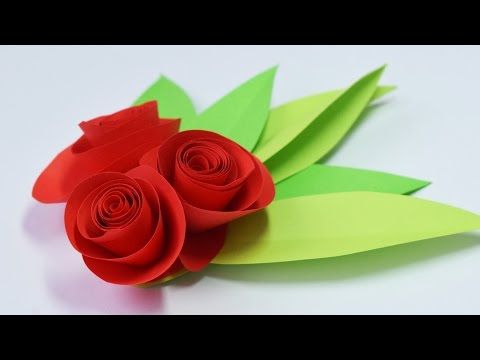 How to make a Simple ROSE of paper / Gifts with their own hands