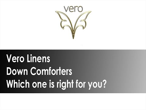 Vero Linens Down Comforters - which one is right for you?