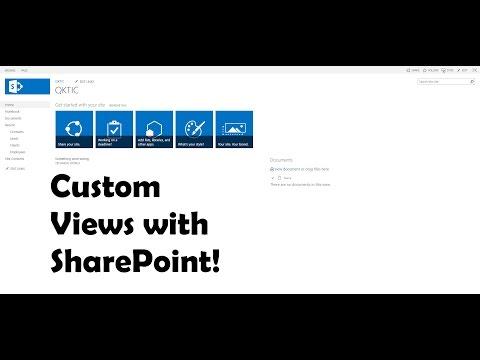 Custom Views with SharePoint 2013
