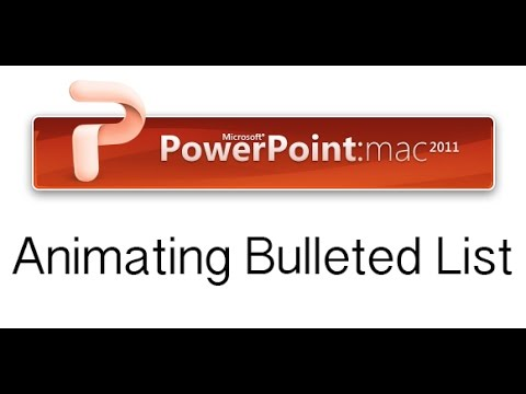 Animating Bulleted List Appearance One by One in PowerPoint Mac 2011