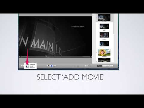 Creating and burning a movie with iDVD on a Mac