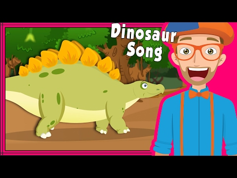 Blippi Dinosaur Song and More   Educational Videos for Preschoolers