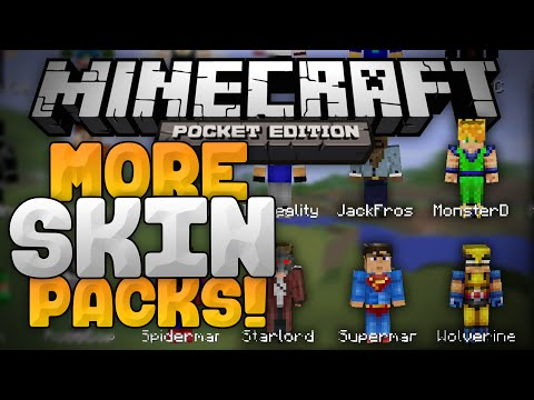 MORE SKIN PACKS MOD for 0.11.0!!! - Superheroes, YouTubers, & MORE! - Minecraft PE (Pocket Edition)