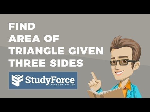 📚 How to find the area of any triangle given its three sides