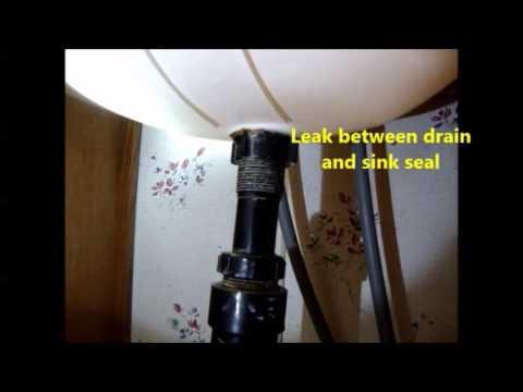 Bathroom Sink to Drain Seal Leak