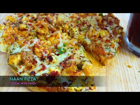 NAAN PIZZA WITHOUT OVEN *COOK WITH FAIZA*
