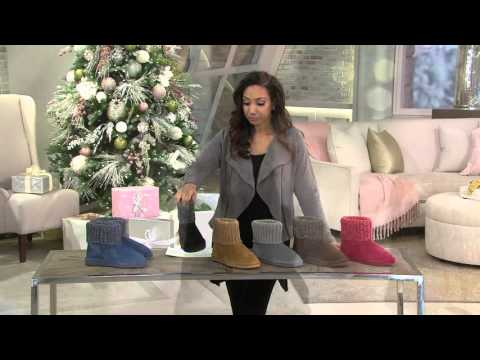 Lamo Suede Water Resistant Boots with Sweater Cuff - Empire on QVC
