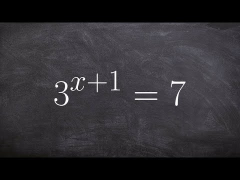 Learn how to take log of both sides to solve an exponential equation