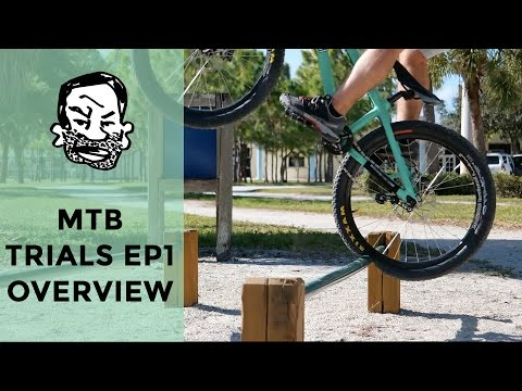 Mountain bike trials for beginners