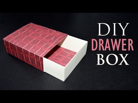 How to Make a Paper Box - DIY Sliding Gift Box