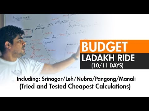 Budget For Leh Ladakh Ride ( 10/11 Days). Cost Calculations. Itinerary Tips