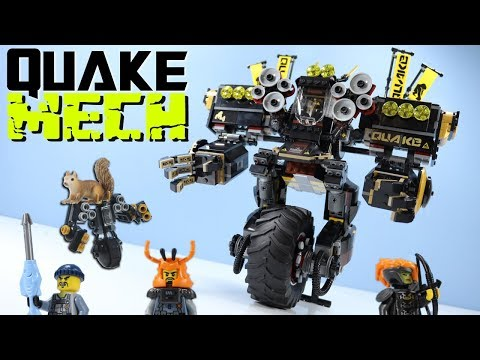 LEGO The Ninjago Movie Quake Mech Cole Set Speed Build Review 70632