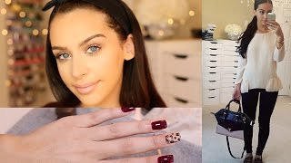 Back 2 School: Makeup (DRUGSTORE!) Hair, Nails & Outfit!