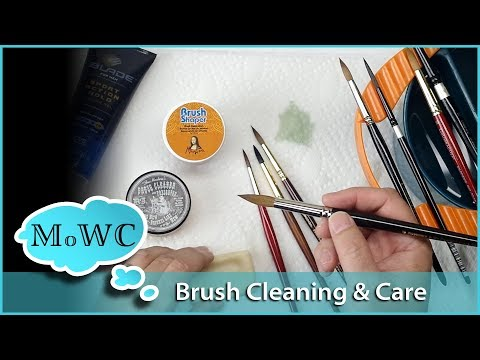 Cleaning & Caring For Your Watercolor Brushes
