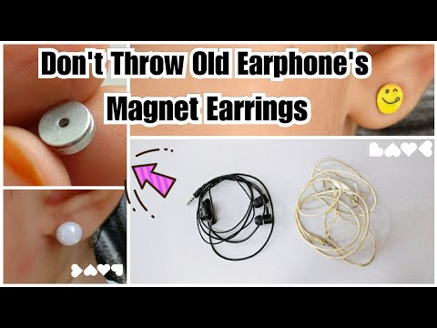 How To Make Magnet Earrings Out Of Waste | Piercing not require | Best out of waste