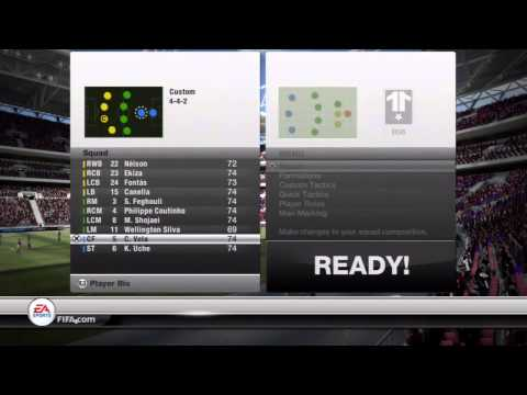 Fifa 12 Ultimate Team | How To Use The New Custom Formations